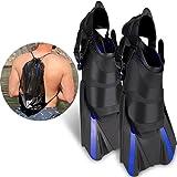 Khroom verstellbare Schnorchelflossen kurz | Mit Tasche zum umhängen [NEUZUGANG] Gr.36-47 Kurzflossen zum Schwimmen für Erwachsene Damen & Herren | Taucherflossen (36-41)