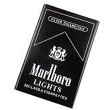 XIAOLINGTONG Zigarettenetui aus Aluminiumlegierung, ultradünn, tragbar, feuchtigkeits- und druckbeständig, für 20 Zigaretten., Schwarz (Schwarz) - 1002834-005-1302496451