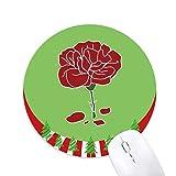 Rote Karneval Mutter Tag Blume Pflanze Rund Gummi Maus Pad Weihnachtsdekoration