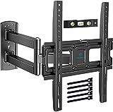 TV Wandhalterung, Schwenkbare Neigbare Halterung für 26-55 Zoll LED, LCD, Flach&Curved Fernseher oder Monitor bis zu 27Kg, max.VESA 400x400mm
