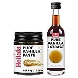 Reiner Vanilleextrakt und Vanilleschotenpaste zum Backen - Heilala-Vanilleschoten werden von Hand gepflückt und stammen aus Polynesien, Gourmet-Bourbon-Sorte