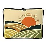 Laptoptaschen für Sonne und Berge, 5 Größen, lustig, leicht, Querformat, geeignet für den Außenbereich, weiß (Weiß) - Ouniaodao-DNB-8
