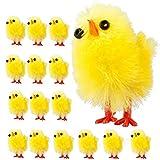 BSTEle Osterküken, kleine gelbe Küken, 60 Stück, flauschige Mini-Plüsch-Küken, Geschenke fü