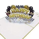 UNICUM Geburtstagskarte 3D Pop-Up Happy Birthday   Glückwunschkarte zum Geburtstag   mit Umschlag  Party   Happy Birthday Card BG131Y
