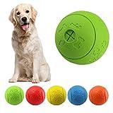 MEKEET Hundeball Snackball Hundespielzeug Ball, Leckerli Spielzeug Ball aus Gummi ungiftig bissfest Spielzeug Ball für Haustier Hunde IQ Trainingsball (Green)