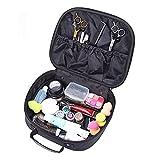 YUXI8541NO Werkzeugtasche für Haarscheren und Friseurzubehör, aus Leder, tragbar, für Friseurzubehör