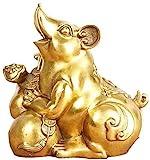 L.TSN Chinesische Feng Shui Dekor Figur Zodiac Rat Statuen Home Decoration Crafts Pure für Zuhause und Büro Reichtum und viel Glück Skulptur 416