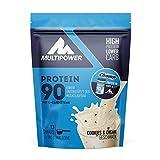 Multipower Protein 90 - lösliches Proteinpulver mit Cookies & Cream Geschmack - 390 g