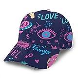 Baseball CapFashion Patch Abzeichen Pink Fashion Männer und Frauen Bequeme Trucker Mütze mit gebogener Kante zum Laufen, Radfahren, Angeln, Tennis, Golf, Outwork, Gartenarbeit und etc