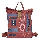 Sunsa Rucksack Damen Herren Canvas & Leder Tasche groß/klein Umhängetasche Big Bag Vintage Taschen Backpack Weekender Sporttasche Mädchen Rucksäcke Crossbody Daypack …