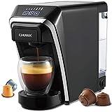 Kapselkaffeemaschine, Chulux Multifunktionale Single-Serve-Kaffeemaschinen Kompatibel mit Nespresso- und Dolce Gusto-Kapseln für den Heimgebrauch