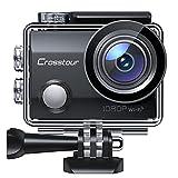 Crosstour Action Cam, CT7000 Unterwasserkamera WiFi Full HD 14MP Helmkamera mit 2' LCD 170° Weitwinkelobjektiv 2X1050mAh Akkus und Zubehör Kits