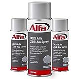 Zinkaluspray Zink-Alu Spray 3 x 400 ml geprüfter Korrosionsschutz Rostschutz schnelltrocknend benzinbeständig Chrom-Optik-Langzeitschutz