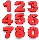 Zahlen Kuchenformen-Sets,Silikon-Backformen,Kuchenform-Backformen für Geburtstag,Hochzeit,Jubiläum,Silikon Anzahl Kuchenform Backen Geburtstag Jubiläum (4)