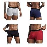 NAQUSHA Boxershorts für Herren 4er-Pack,1er-Pack,5er-Pack,6er-Pack,8er-Pack,Baumwolle atmungsaktive Herrenunterwäsche,dehnbar weich, klassische Passform Unterwäsche, Boxershorts, Hosen Multipack