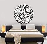 Wandtattoo Mandala Flower Art Wandaufkleber Modernes Design Wohnaccessoires Wandschablone Abnehmbares Dekor 57X57C