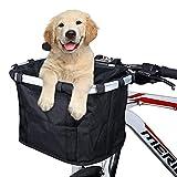 ZJING Vorne Faltbar Fahrrad Fahrradkorb Korb Abnehmbare Wasserdicht Fahrrad Lenkerkorb Tasche Aufbewahrungskorb für Einkaufen, Pendeln, Kleine Hunde