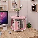 Kinder-Bücherregal um 360° drehbar, Schreibtisch-Bücherregal, Schreibtisch-Dekoration, für Schlafzimmer (Farbe: Rosa, Größe: 39 x 35 x 30 cm)