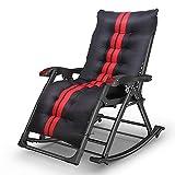 H.Slay Zero Gravity-Stuhl, klappbar, verstellbar, Liegestuhl mit Kopfstütze, geeignet für Outdoor, Hof, Strand, Pool, Terrasse etc.