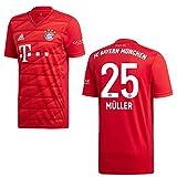 adidas Bayern Trikot Home Kinder 2020 - MÜLLER 25, Größe:140