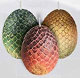 Insight Editions: Game of Thrones: Sculpted Dragon Egg Candl: Sculpted Dragon Egg Candles (Set of 3)