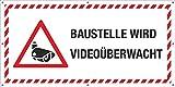 PVC Werbebanner Banner Plane Bauzaunplane Baustelle wird Videoüberwacht