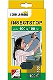 Schellenberg 50711 Fliegengitter für Fenster, Insektenschutz ohne Bohren, Schutz vor Mücken, Fliegen, Insekten und Ungeziefer, 100 x 100 cm, inkl. selbstklebendes Klettband,