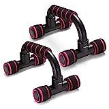 Adkwse Liegestütze,Liegestützgriffe 2er-Set Liegestütz Griff mit rutschfeste,Professional Push Up Bars für Muskeltraining und Krafttraining(Rot)