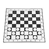 DAUERHAFT Weiß & Schwarz Bequemes Handgefühl Checkers Spiel Hochwertiges Plastik Checkerset für Party-Familienak