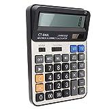 Big Screen 14-stelliger Taschenrechner Dual Power Calculator Solarrechner für Office(black)