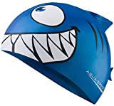 Aqua Speed Set Kids Swimming Cap   Badekappe Mädchen & Jungen   Kinder Schwimmkappe wasserdicht   Blaue Bademütze   Badehaube   Schwimmmütze Hai   Kinderbadekappe Silikon   blau 01   Shark