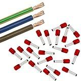 Xenterio Zählerschrank Elektro-Verdrahtungssatz, 10mm², 3/1/1m (bn/bl/gn-ge), 25 Aderendhülsen