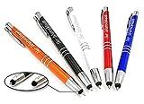 Kugelschreiber mit Gravur und Touchpen Funktion - Geschenk hochwertig für jeden. Personalisierter kugelschreiber perfekt als Werbegeschenke, Firmenartikel, Partygeschenke (25)