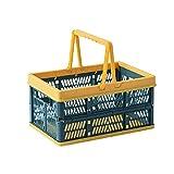 SJYDQ Faltbarer Einkaufswagen Supermarkt Supermarkt Einkaufskorb Warenkorb Snack Obst Picknickkorb Kunststoff Lagerkorb