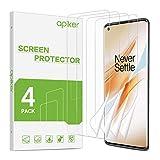 apiker [4 Stück] TPU Schutzfolie für Oneplus 8 Pro, Oneplus 8 Pro TPU Displayschutzfolie, blasenfrei, hohe Definition, hohe Empfindlichkeit