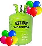 trendmile Premium Heliumflasche XL Ballongas für bis zu 30 Luftballons à 23cm - Helium Gas Ballons (1x Ballongas)