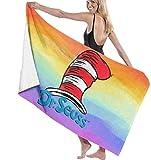 BAOYUAN0 DR. Seuss Hut Badetücher Beach Hotel Spa Handtuch Schnelltrocknende Decke 80*130cm