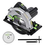 GALAX PRO Elektrische Kreissäge, 2000 W, 5000 U/min, Laserführung, Schnitttiefe max. 85 mm (90 °), 56 mm (45 °), Schrägschnitt: 45 °, Klinge 235 mm, Schlitzschlüssel, Parallel-L