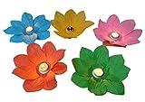 GW Handels UG 16 Stück Wasserlaterne Lotusblüte Seerose Schwimmlaterne Schwimmkerzen Laterne Teelichter Kerzen Bunt Schwimmlichter Windlicht Outdoor Deko