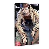 Leinwandposter Anime One Punch Man Zombieman, Schlafzimmer, Dekoration, Sport, Landschaft, Büro, Raumdekoration, Geschenk, 60 x 90 cm, Rahmen style1