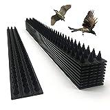 KUANDARGG 10 Stück Anti Bird Thorn Zaun Wand Spike Wall Pigeon Abschreckend Repellent Vogel Zaun Katzen Garden Defense Spikes-Pack
