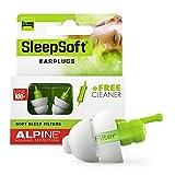 Alpine SleepSoft Gehörschutz Ohrstöpsel zum Schlafen - Schalldämpfer Schnarchen und verbessert den Schlaf - Weichfilter geeignet für Seitenschläfer – Hypoallergenes Material – Wiederverwendbar