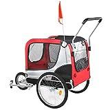 Cocosity Pet Cart Oxford Stoff Fahrradanhänger 2 In 1 Design für Haustiere nach H