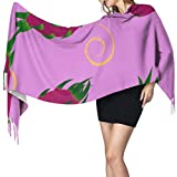 Farbiger Schal für Damen, Motiv: Obst, Drache, 196 x 68 cm, groß, weich, Pashmina, extra warm