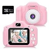 HyAdierTech Kinderkamera, Kinder-Digitalkamera 1080P HD-Video-Digitalkamera mit 2-Zoll-LCD-Bildschirm 32G-Speicherkarte, Jungen und Mädchen Geschenke Spielzeug für 3 bis 13 J