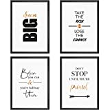 Mia Félice Poster-Set Collage DIN A4 Life Goals - schwarz-weiß Rose-Gold - Dekoration Wohnung modern - Wand-Deko Wohnzimmer - Tumblr Zimmer Wand-Bild - Wand-Bilder Schlafzimmer - ohne Bilderrahmen