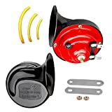 WholeFire Auto Fahrzeug Hupe Lautes Dual Tone Schnecken hörner Universal Elektrische Luft Hupe 12V 130db für Autos Lkw Motorrad (1 Paar)