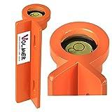 Lattenrichter LR 39 M - Metall, orange, Messaufgaben im Baubereich, Lotrechtes p