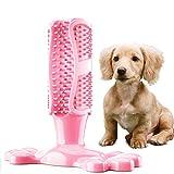 Yumanluo Hundezahnpflege Reinigen Spielzeug Bürsten,Hundezahn-Reinigungsstab, beißfestes Spielzeug-Pink_M,langlebiges Kauspielzeug für Aggressive