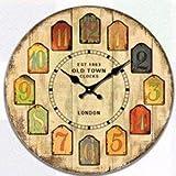 YEESEU. Haus antiker Wandtisch mutet Uhr Quartz Clocks ist EIN Familienrestaurant Küche Büro Schulen sind ideal for Jede roomB (Farbe: -, Größe: -)